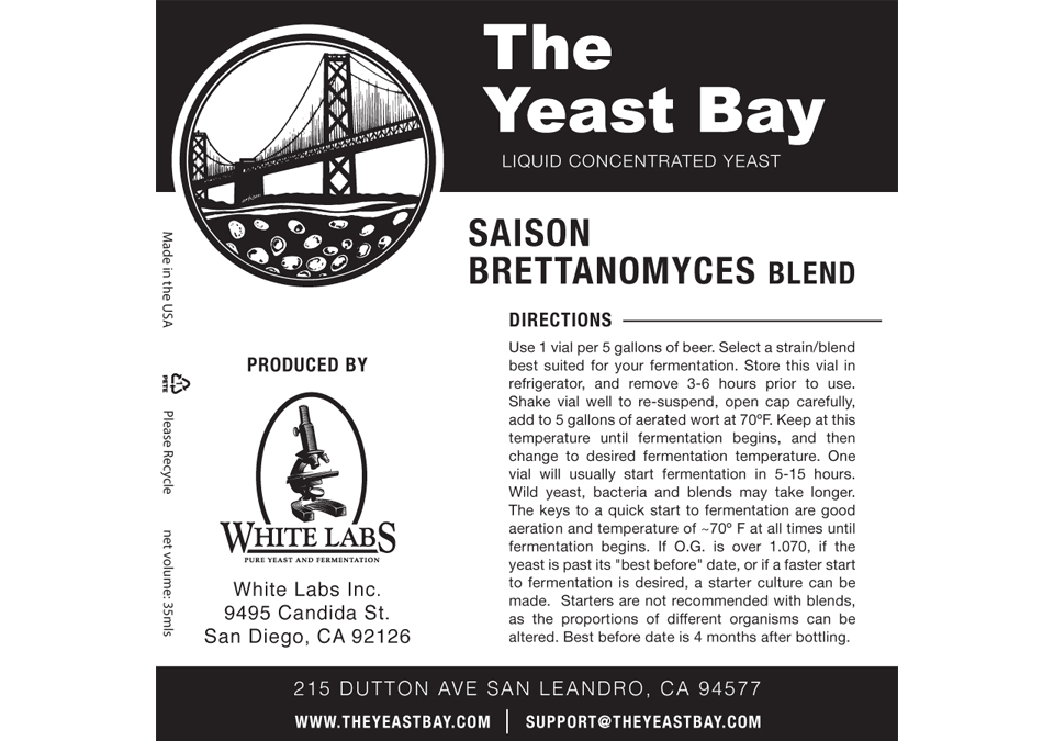 The Yeast Bay Saison Brettanomyces Blend