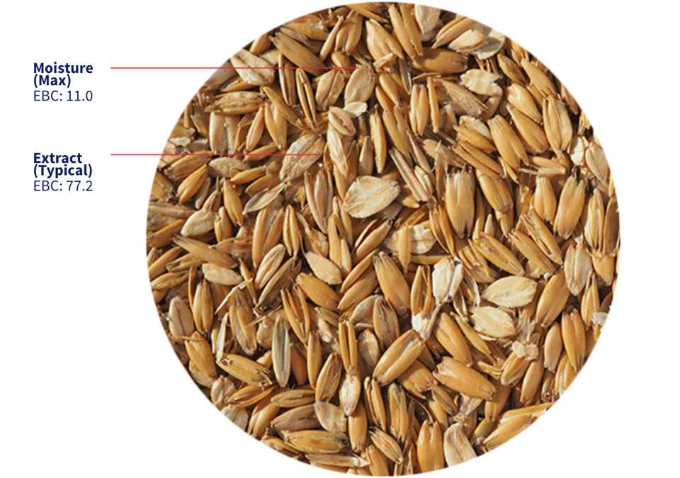 Crisp Flaked Torrefied Oats 1 kg