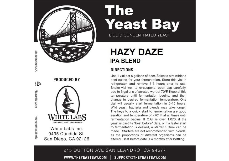 The Yeast Bay Hazy Daze Jäst